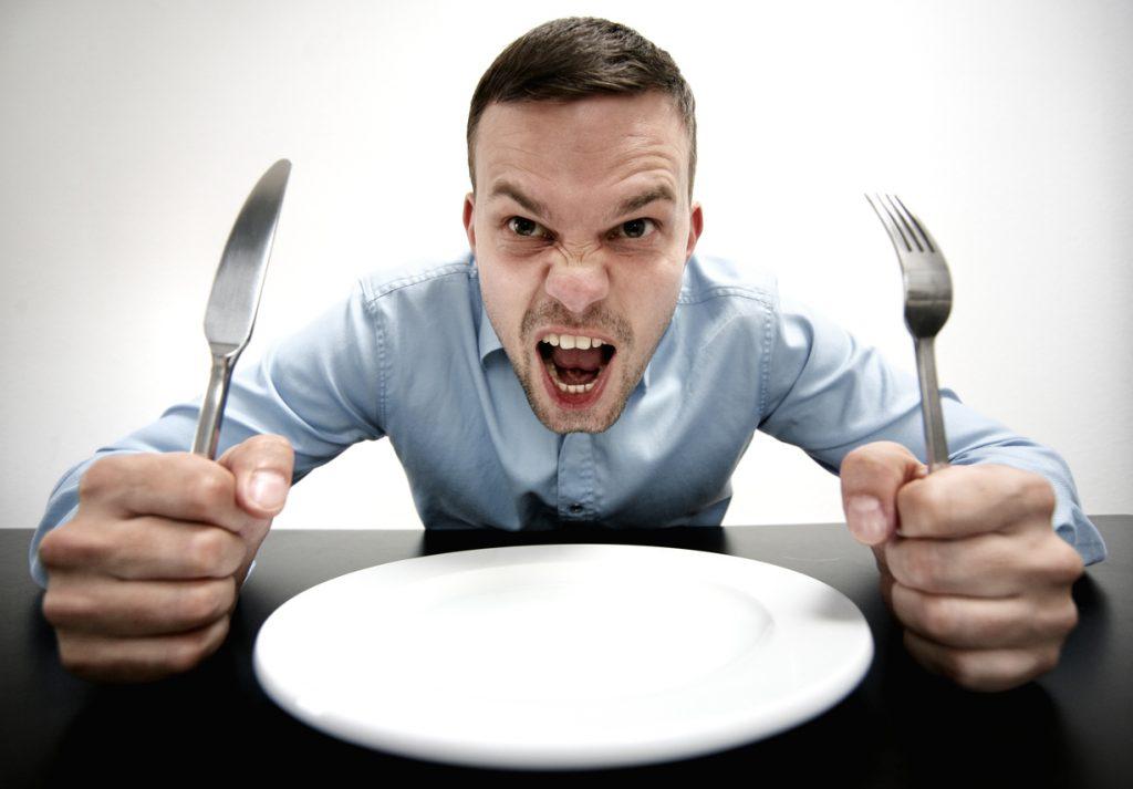 pessoa com fome